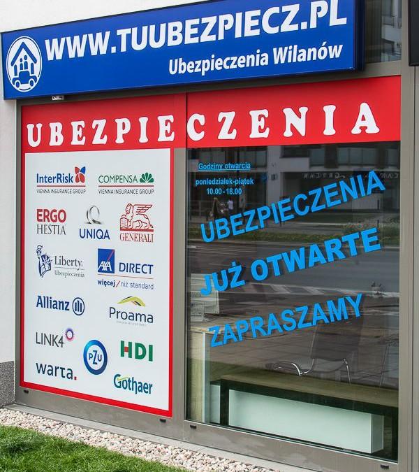 Ubezpieczenia Wilanów – nowe biuro w Wilanowie